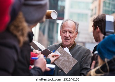 BERLIN, GERMANY - FEBRUARY 06:  the director Werner Herzog attends the 'Queen of the desert' photocall on the 65th Berlinale International Film Festival  Hotel on February 6, 2015 in Berlin, Germany.