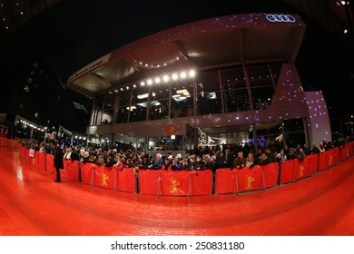 BERLIN, GERMANY - FEBRUARY 07: Audi Palast, the main venue at the 65th Berlinale International Film Festival on February 07, 2015 in Berlin, Germany
