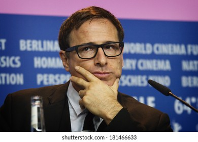 BERLIN, GERMANY - FEBRUARY 07: David O. Russell attends the 'American Hustle' press conference during 64th International Festival at Grand Hyatt Hotel on February 7, 2014 in Berlin, Germany.