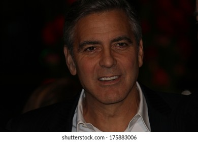 BERLIN, GERMANY - FEBRUARY 08: George Clooney attends 'The Monuments Men' Premiere - Audi during The 64th Berlinale  Film Festival at Berlinale Palast on February 08, 2014 in Berlin, Germany.