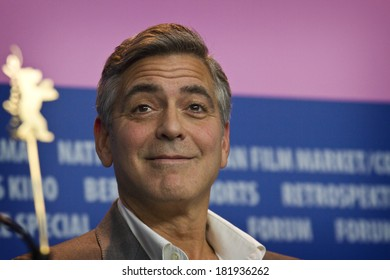 BERLIN, GERMANY - FEBRUARY 08: George Clooney attends 'The Monuments Men' press conference during 64th Berlinale Film Festival at Grand Hyatt Hotel on February 8, 2014 in Berlin, Germany.