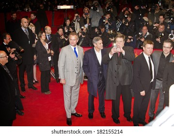 BERLIN, GERMANY - FEBRUARY 08: George Clooney attends 'The Monuments Men' premiere during 64th Berlinale International Film Festival at Berlinale Palast on February 8, 2014 in Berlin, Germany.