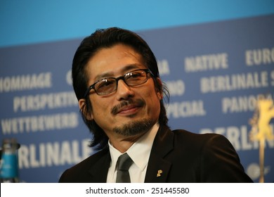 BERLIN, GERMANY - FEBRUARY 08: Hiroyuki Sanada attends a press conference of the film 'Mr Holmes' presented in the competition of the 65th Film Festival Berlinale in Berlin, on February 8, 2015