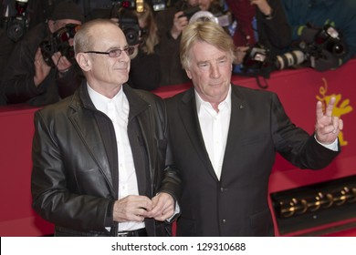 BERLIN, GERMANY - FEBRUARY 08: Rick Parfitt (L) and Francis Rossi attend 'Promised Land' Premiere during the 63rd Berlinale  Film Festival at Berlinale Palast on February 8, 2013 in Berlin, Germany.