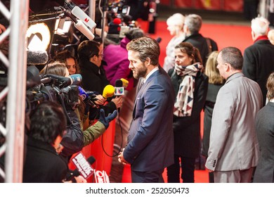 BERLIN, GERMANY - FEBRUARY 09: Ryan Reynolds  attends the 'Woman in Gold' premiere during the 65th Berlinale International Film Festival at Friedrichstadt-Palast on February 9, 2015 in Berlin, Germany