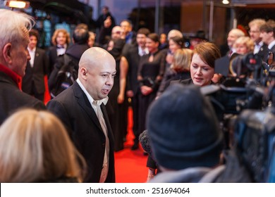 BERLIN, GERMANY - FEBRUARY 10, 2015: Director Alexey German attends the 'Under Electric Clouds' (Pod electricheskimi oblakami) premiere during the 65th Berlinale International Film Festival