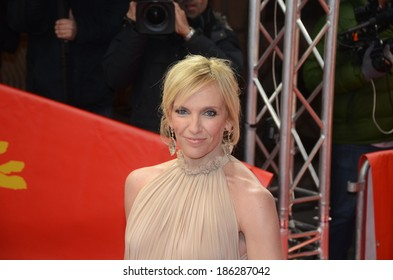 "BERLIN - GERMANY - FEBRUARY 10: Toni Collette at the 64rd Annual Berlinale International Film Festival ""A Long Way Down"" premiere at Friedrichstadtpalast on February 10, 2014 in Berlin, Germany."