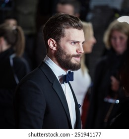 BERLIN, GERMANY - FEBRUARY 11: Actor Jamie Dornan attends the 'Fifty Shades of Grey' premiere during the 65 Berlinale International Film Festival at Zoo Palast on February 11, 2015 in Berlin, Germany.