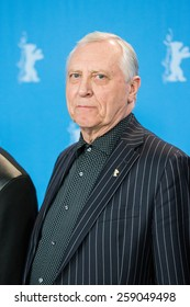 BERLIN, GERMANY - FEBRUARY 11: Director Peter Greenaway. 'Eisenstein in Guanajuato' photocall. 65th Berlinale International Film Festival at Grand Hyatt Hotel on February 11, 2015 in Berlin, Germany.