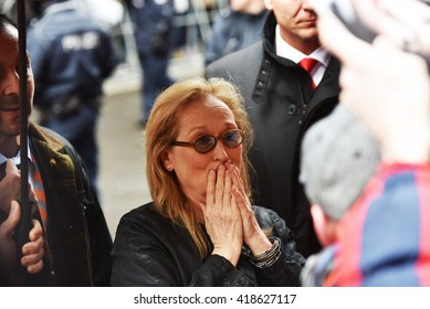"BERLIN - GERMANY - FEBRUARY 11:Meryl Streep arriving the Press Conference ""International Jury"" at the 66rd Annual Berlinale International Film Festival at Hyatt on February 11, 2016 in Berlin, Germany"
