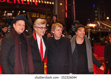 BERLIN, GERMANY - FEBRUARY 12, 2015: Campino, Andreas Meurer, Director Wim Wenders and Andreas von Holst attends the 'The American Friend'  screening during the 65th Berlinale