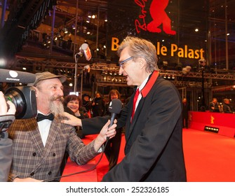 BERLIN, GERMANY - FEBRUARY 12, 2015: Director Wim Wenders attends the 'The American Friend' (Der amerikanische Freund) screening during the 65 Berlinale International Film Festival at Berlinale Palace