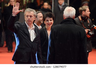 "BERLIN - GERMANY - FEBRUARY 12: Bruno Dumont and Juliette Binoche at the 63rd Annual Berlinale International Film Festival ""Camille Claudel 1915"" premiere on February 12, 2013 in Berlin, Germany."