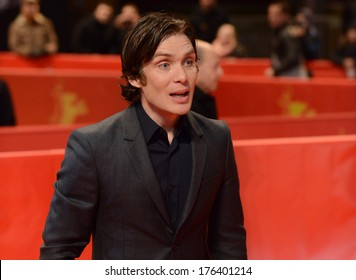 "BERLIN - GERMANY - FEBRUARY 12: Cillian Murphy at the 64th Annual Berlinale International Film Festival ""Aloft"" premiere at Berlinale Palast on February 12, 2014 in Berlin, Germany."