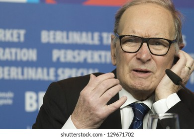 BERLIN, GERMANY - FEBRUARY 12: Composer Ennio Morricone attends the 'The Best Offer' press conference  during the 63rd  Festival at the Grand Hyatt Hotel on February 12, 2013 in Berlin, Germany.