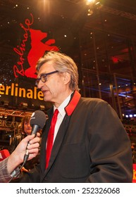 BERLIN, GERMANY - FEBRUARY 12: Director Wim Wenders attends the 'The American Friend' (Der amerikanische Freund) screening during the 65th Berlinale  at Berlinale Palace on February 12, 2015