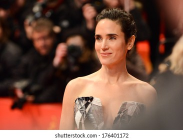"BERLIN - GERMANY - FEBRUARY 12: Jennifer Connelly at the 64th Annual Berlinale International Film Festival ""Aloft"" premiere at Berlinale Palast on February 12, 2014 in Berlin, Germany."
