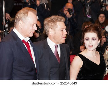 BERLIN, GERMANY - FEBRUARY 13, 2015:  Bonham Carter, Kenneth Branagh and Stellan Skarsgard attend the 'Cinderella' premiere during the 65th Berlinale International Film Festival at Berlinale Palace