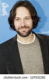 BERLIN, GERMANY - FEBRUARY 13: Paul Rudd attends the 'Prince Avalanche' Photocall during the 63rd Berlinale International  Festival at the Grand Hyatt Hotel on February 13, 2013 in Berlin, Germany.