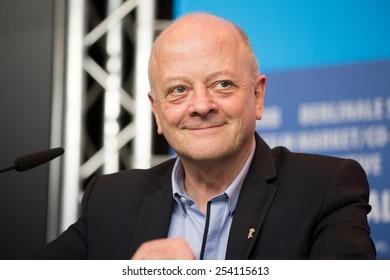 BERLIN, GERMANY - FEBRUARY 13: Producer David Barron, 'Cinderella' press conference, 65th Berlinale International Film Festival at Grand Hyatt Hotel on February 13, 2015 in Berlin, Germany