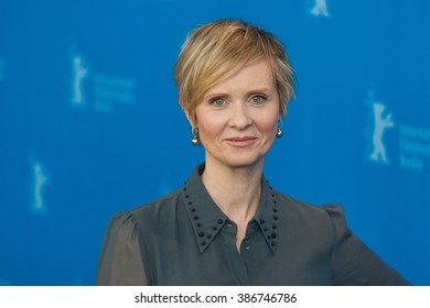 Berlin, Germany - February 14, 2016  - Actress Cynthia Nixon attends the 'A Quiet Passion' photo call during the 66th Berlinale International Film Festival