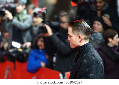 Berlin, Germany - February 14, 2017: actor Robert Pattinson on red carpet attending the 'The Lost City of Z' premiere during the 67th Berlinale International Film Festival Berlin at Berlinale Palace