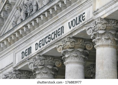 BERLIN, GERMANY - FEBRUARY 14: Reichstag, on February 14, 2014. The Reichstag building in Berlin - German parliament ( Bundestag ).