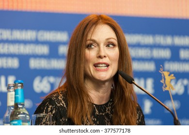 Berlin, Germany - February 15, 2016  - Actress Julianne Moore attends the 'Maggie's Plan' press conference during the 66th Berlinale International Film Festival