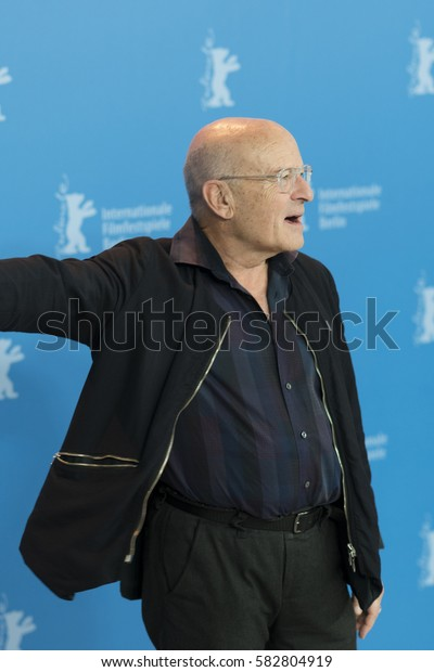 Berlin, Germany - February 15, 2017: producer, director and screenwriter Volker Schloendorff attends the 'Return to Montauk' photo call during the 67th Berlinale International Film Festival Berlin