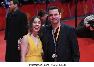 Berlin, Germany - February 15, 2018: German actress Paula Beer attends the Opening Ceremony and the 'Isle of Dogs' premiere during the 68th Berlinale International Film Festival Berlin 2018