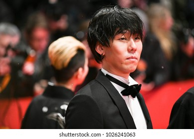 Berlin, Germany - February 15, 2018: Japanese Yojiro Noda attends the Opening Ceremony and the `Isle of Dogs` premiere during the 68th Berlinale Film Festival 2018