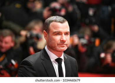 Berlin, Germany - February 15, 2018: US actor Liev Schreiber attends the Opening Ceremony of 'Isle of Dogs' premiere during the 68th Berlinale International Film Festival Berlin at Berlinale Palace