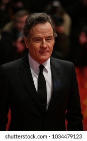 Berlin, Germany - February 15, 2018: Actor Bryan Cranston poses on red carpet for the 'Isle of Dogs' premiere during the 68th Berlinale Film Festival 2018
