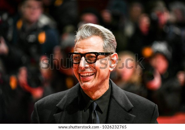 Berlin, Germany - February 15, 2018: American actor Jeff Goldblum attends the Opening Ceremony and the 'Isle of Dogs' premiere during the 68th Berlinale International Film Festival Berlin 2018