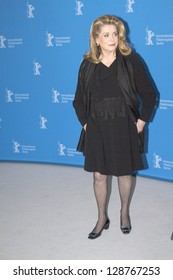 BERLIN, GERMANY - FEBRUARY 15: Actress Catherine Deneuve attends the 'On My Way' Photocall during the 63rd Berlinale International Film Festival on February 15, 2013 in Berlin, Germany.
