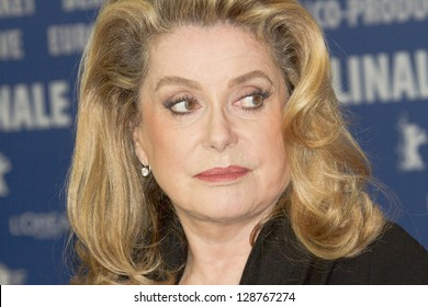 BERLIN, GERMANY - FEBRUARY 15: Actress Catherine Deneuve attends the 'On My Way' Press Conference during the 63rd Berlinale International Film Festival on February 15, 2013 in Berlin, Germany.