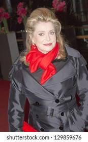 BERLIN, GERMANY - FEBRUARY 15: Actress Catherine Deneuve attends the 'On My Way' premiere during the 63rd Berlinale International Film Festival on February 15, 2013 in Berlin, Germany.