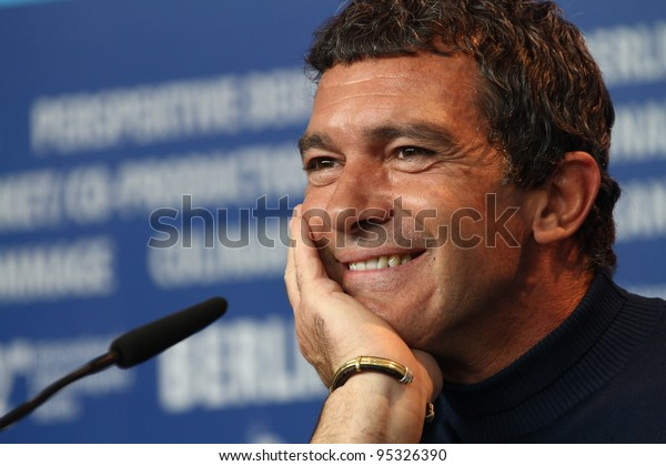 BERLIN, GERMANY - FEBRUARY 15: Antonio Banderas  attends the 'Haywire' Press Conference during of the 62nd Berlin  Film Festival at the Grand Hyatt on February 15, 2012 in Berlin, Germany.