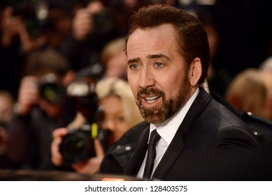 "BERLIN - GERMANY - FEBRUARY 15: Nicolas Cage at the 63rd Annual Berlinale International Film Festival ""The Croods"" premiere at Berlinale Palast on February 15, 2013 in Berlin, Germany."