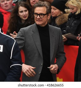 BERLIN - GERMANY - FEBRUARY 16: Colin Firth arriving to the Press Conference from  at the 66rd Annual Berlinale International Film Festival at Hyatt on February 16, 2016 in Berlin, Germany