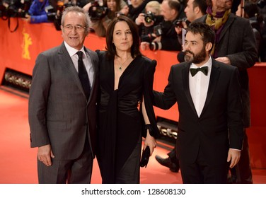 BERLIN - GERMANY - FEBRUARY 16:  Sergio Hendandez, Paulina Garcia and Sebastian Lelio at the 63rd Annual Berlinale Film Festival Closing Seremony on February 16, 2013 in Berlin, Germany.