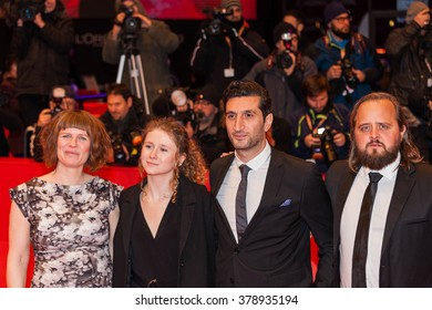 Berlin, Germany - February 17, 2016  - Actors Magnus Millang, Fares Fares, Martha Sofie Wallstrom, Anne Gry Henningsen attend the 'The Commune' (Kollektivet) premiere during the 66th Berlinale