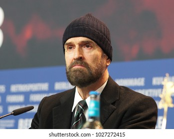 Berlin, Germany - February 17, 2018: Actor Rupert Everett attends the 'The Happy Prince' press conference during the 68th Berlinale Film Festival 2018