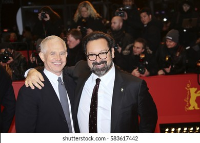 BERLIN, GERMANY - FEBRUARY 17:  Hutch Parker, director James Mangold attend the 'Logan' premiere during the 67th Berlinale  Festival Berlin at Berlinale Palace on February 17, 2017 in Berlin, Germany.