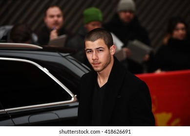 BERLIN - GERMANY - FEBRUARY 17: Nick Jonas arriving to the Press Conference from Goat at the 66rd Annual Berlinale International Film Festival at Hyatt on February 17, 2016 in Berlin, Germany