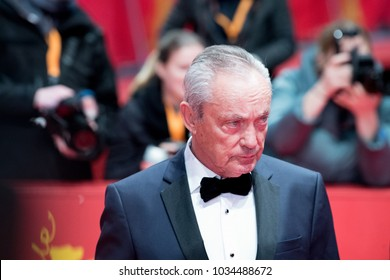 Berlin, Germany - February 18, 2018: German actor Udo Kier attends the 'Daughter of Mine' (Figlia Mia) premiere during the 68th Berlinale International Film Festival Berlin at Berlinale Palast