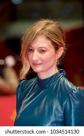 Berlin, Germany - February 18, 2018: Italian actress Alba Rohrwacher poses on red carpet before the 'Daughter of Mine' (Figlia Mia) premiere during the 68th Berlinale International Film Festival 2018