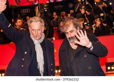 Berlin, Germany - February 19, 2016  - Directors Gustave Kervern and Benoit Delepine attend the 'Saint Amour' premiere during the 66th Berlinale International Film Festival