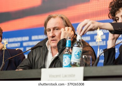 Berlin, Germany - February 19, 2016  - Actor Gerard Depardieu attends the 'Saint Amour' press conference during the 66th Berlinale International Film Festival