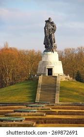 BERLIN, GERMANY - FEBRUARY 2, 2015:  Soviet War Memorial built in 1945 in Treptower park, Berlin, Germany